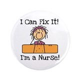 "Fix It Nurse 3.5"" Button"