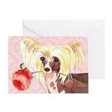 Chinese Crested Rose Greeting Card