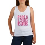 PEACE LOVE PINK Women's Tank Top