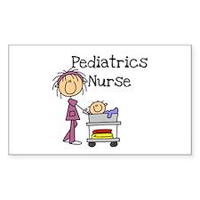 Pediatrics Nurse Rectangle Decal
