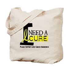 I Need A Cure LIVER CANCER Tote Bag