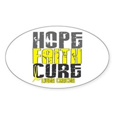HOPE FAITH CURE Liver Cancer Oval Decal