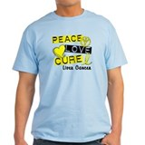 PEACE LOVE CURE Liver Cancer T-Shirt