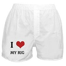 I Love My Rig Boxer Shorts