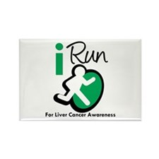 I Run For Liver Cancer Rectangle Magnet (10 pack)