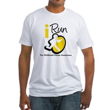 I Run Childhood Cancer Shirt