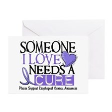 Needs A Cure ESOPHAGEAL CANCER Greeting Cards (Pk