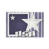 USA Stripes and Stars Rectangle Magnet