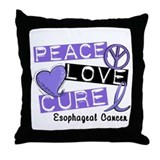 PEACE LOVE CURE EsophCanc (L1) Throw Pillow