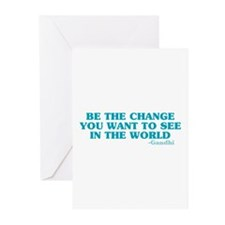 Be The Change You Want Greeting Cards (Pk of 20)