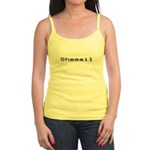Shemail Jr. Spaghetti Tank - Shemail email for the feminine geek/nerd/neek. Are you a computer genius, or brilliant creative? Shemail your email from UranusCafe.com - Availble Sizes:Small,Medium,Large,X-Large - Availble Colors: White,Light Blue,Light Pink,Lemon
