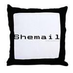 Shemail Throw Pillow - Shemail email for the feminine geek/nerd/neek. Are you a computer genius, or brilliant creative? Shemail your email from UranusCafe.com