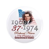 "37th President - 3.5"" Button"