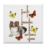 papillon crossword puzzle Tile Coaster