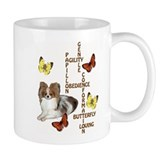 papillon crossword puzzle Small Mugs