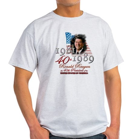40th President - Light T-Shirt
