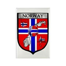 Norge Norwegian Soccer Shield Rectangle Magnet