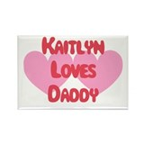 Kaitlyn Loves Daddy Rectangle Magnet