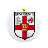 "England Soccer Shield 3.5"" Button"