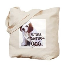 clumber spaniel hunting puppy Tote Bag