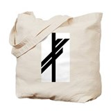 Viking Rune - Luck-BW Tote Bag