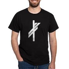 Viking Rune - Luck-BW T-Shirt