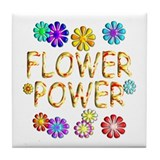 Flower Power Tile Coaster