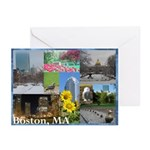 Boston, MA Photo Collage by Celeste Sheffey Greeti