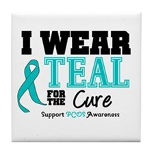 IWearTeal For The Cure Tile Coaster