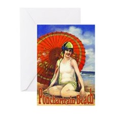 Pontchartrain Beach Poster 2 Greeting Cards (Pk of
