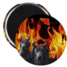 "Cute Weimaraner holiday 2.25"" Magnet (100 pack)"