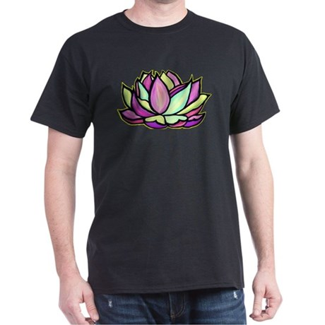 painted lotus flower Dark T-Shirt