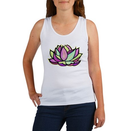 painted lotus flower Women's Tank Top