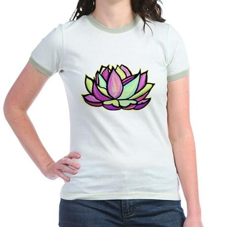 painted lotus flower Jr. Ringer T-Shirt