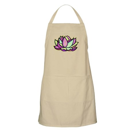 painted lotus flower BBQ Apron
