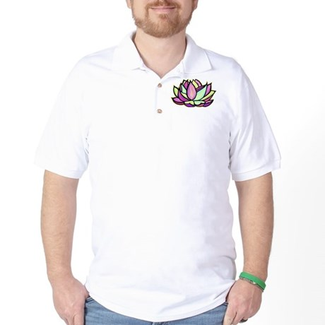 painted lotus flower Golf Shirt