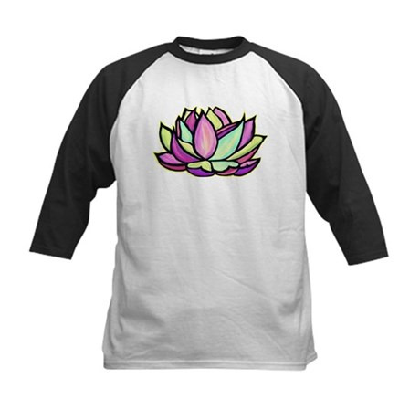 painted lotus flower Kids Baseball Jersey