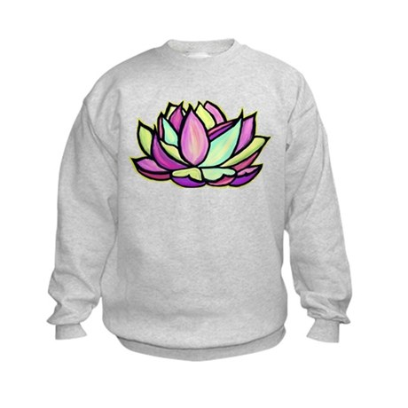 painted lotus flower Kids Sweatshirt