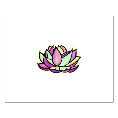 painted lotus flower Small Poster