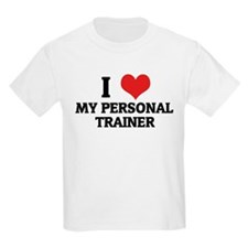 I Love My Personal Trainer Kids T-Shirt