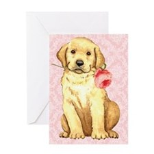 Yellow Lab Rose Greeting Card