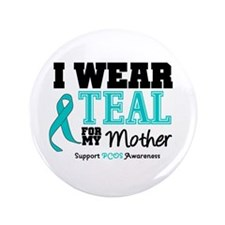 "IWearTeal Mother 3.5"" Button (100 pack)"