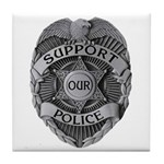 Support Our Police Tile Coaster