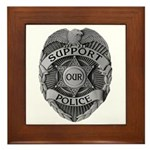 Support Our Police Framed Tile