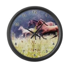 Galloping Horses Large Wall Clock