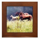 Galloping Horses Framed Tile
