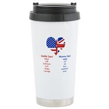 American Daddy, English Mummy Ceramic Travel Mug