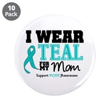"IWearTeal Mom 3.5"" Button (10 pack)"