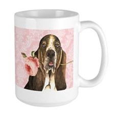 Basset Hound Rose Coffee Mug