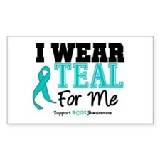 I Wear Teal For Me Rectangle Decal